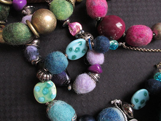 A selection of beaded jewellery from Joan
